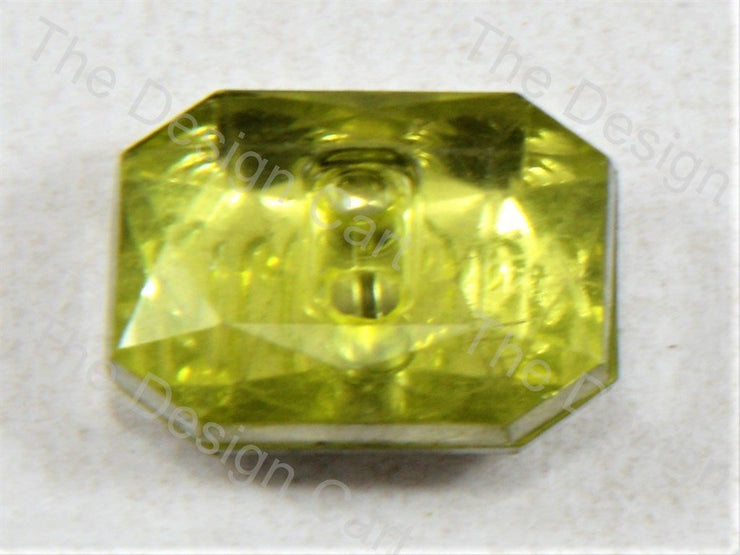 Yellow Octagonal Design Crystal Button (399400108066)