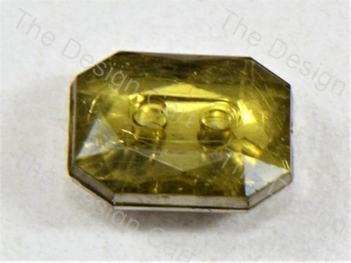 Pale Yellow Octagonal Design Crystal Button