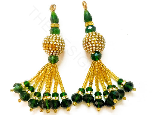 Olive Green Beads Work Latkan