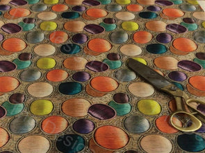 Multicolour Pebbles Design Printed Polyester Fabric