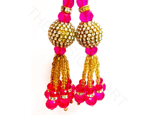 Hot Pink Beads Work Latkan