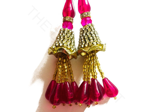 Pink Beads Work Latkan