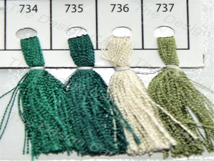 Green Colour Set 7 Silk Threads (405830107170)
