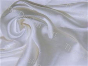 White Dyeable Plain Cotton Silk Blend 50 grams Width 44 Inches