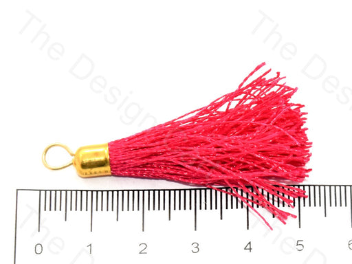 Coral Red Silk Thread Tassel