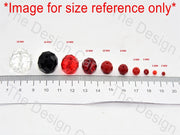 Red Transparent Tyre / Rondelle Shaped - The Design Cart