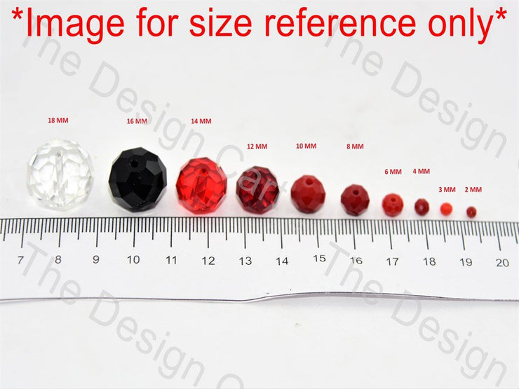 Light red Transparent Tyre / Rondelle Shaped - The Design Cart (11015422739)