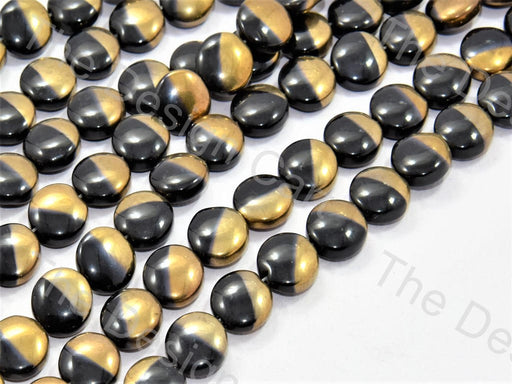 Black Golden Dual Circular Designer Beads