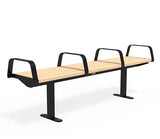 Citi Elements Bench - Softwood - Black (RAL 9005) - All Arms