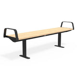 Citi Elements Bench - Softwood - Black (RAL 9005) - End Arms