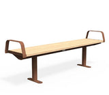 Citi Elements Bench - Softwood - Corten