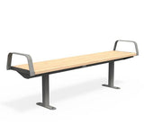 Citi Elements Bench - Softwood - Dark Silver (RAL 9007)