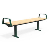Citi Elements Bench - Softwood - Green (RAL 6005)