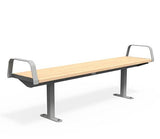 Citi Elements Bench - Softwood - Light Silver (RAL 9006)