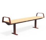 Citi Elements Bench - Softwood - Oxide Red (RAL 3009)