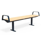 Citi Elements Bench - Softwood - Steel Blue (RAL 5011)