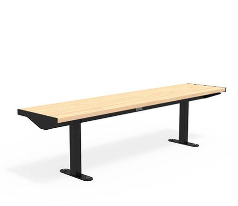 Citi Elements Bench - Softwood - Black (RAL 9005) - No Arms