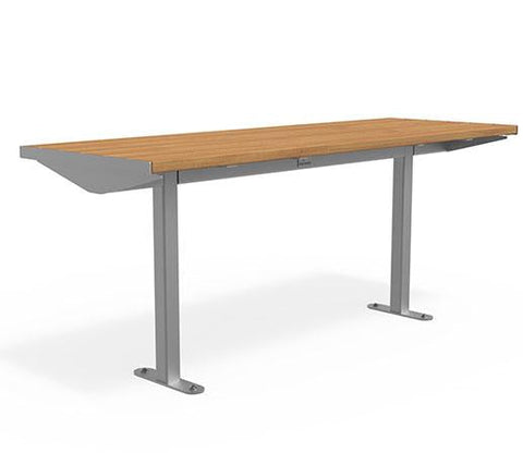 Citi Elements Table - Hardwood - Stainless Steel