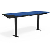 Citi Elements Table - Recycled Plastic - Black (RAL 9005) & Cobalt Blue