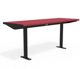 Citi Elements Table - Recycled Plastic - Black (RAL 9005) & Cranberry Red