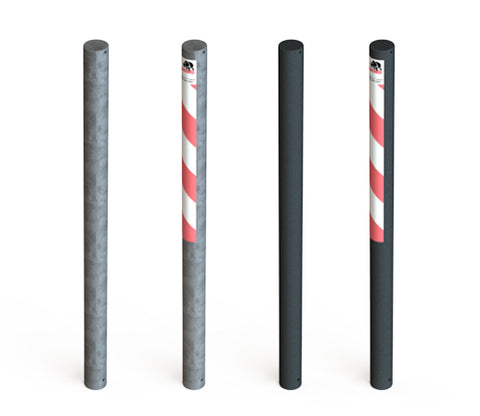 Galvanised steel parking post bollards