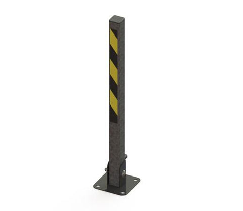 Essentials Steel Fold Down Bollard - Square Galvanised