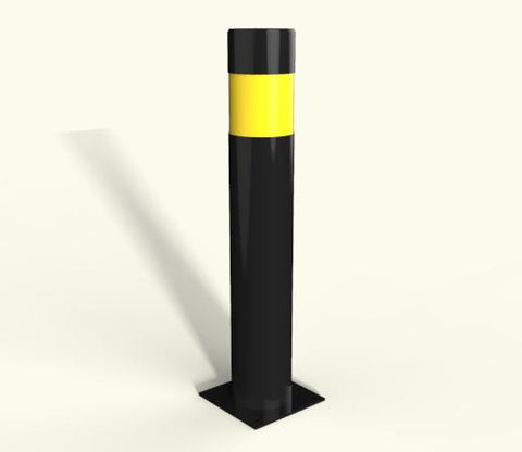 Rhino RB 150 Steel Powder Coated Bollard Baseplated