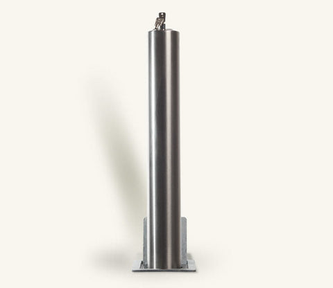 Rhino RTSS5 Heavy Duty Round Stainless Steel Telescopic Bollard