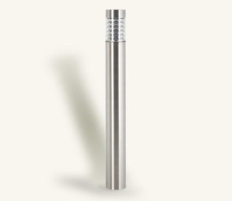 Illuminated Flat Top Stainless Steel Bollard