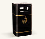 Ollerton Albion Municipal Style Steel Standard 120L Bin with Ashtray Option