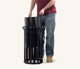Ollerton Festival Contemporary Steel Flared Top 40L litre Litter Bin