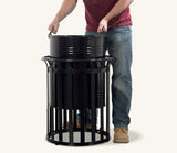 Ollerton Festival Contemporary Steel Flared Top 90L Litter Bin