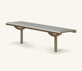 Ollerton M3 Contemporary Straight Stainless Steel Bench