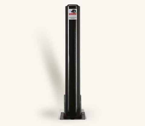 Rhino RT R14 Heavy Duty Round Powder Coated Steel Telescopic Bollard