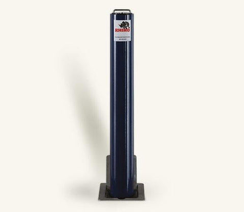 Rhino RT R8 Heavy Duty Round Steel Powder Coated Telescopic Bollard