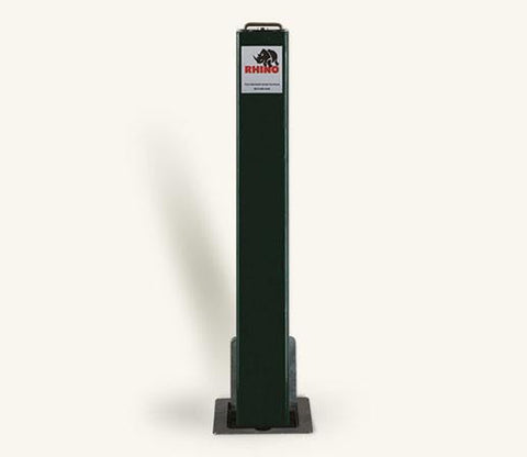 Rhino RTSQ8 Heavy Duty Square Steel Powder Coated Telescopic Bollard