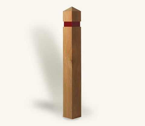 Square Timber Bollard with Pyramid Top