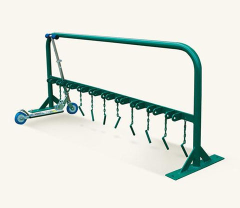 Urban Steel Powder Coated Scooter Rack 10 Scooter Capacity