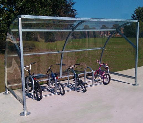Urban Velozone Galvanised Steel Cycle Shelter