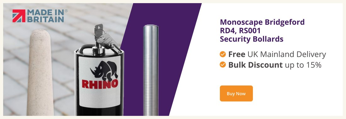 Save up to 35% on fold down, stainless steel & concrete bollards
