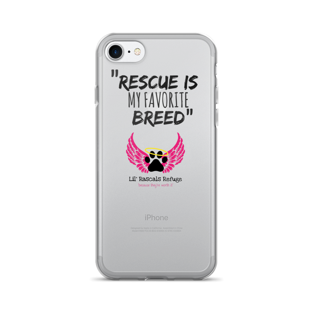 "Rescue is my favorite breed"" Lil Rascals Refuge iPhone 7/7 Plus Case"