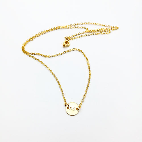signature initial necklace - lux & luz