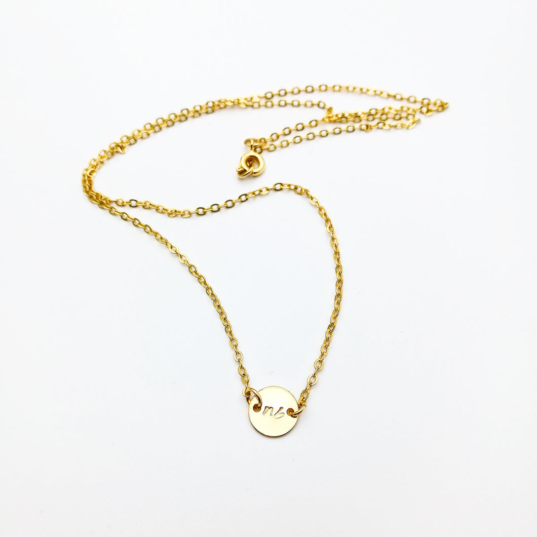 personalized initial signature necklace by lux & luz