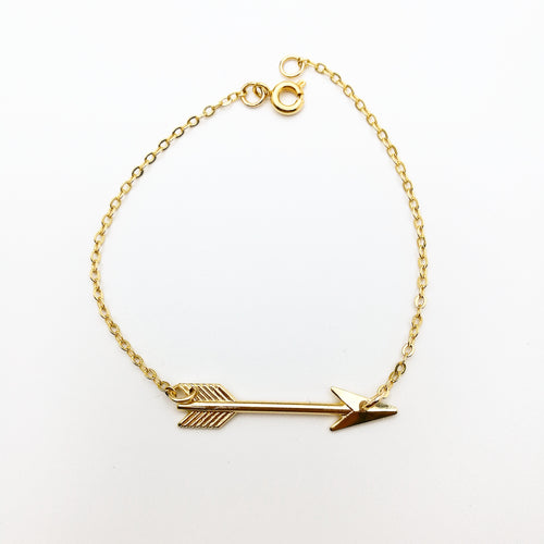 boho arrow bracelet by lux & luz