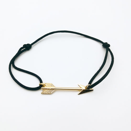 boho arrow satin cord bracelet by lux & luz