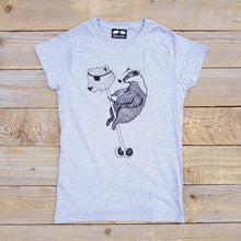 badger t-shirt women's grey