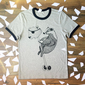 badger on hobby horse tee