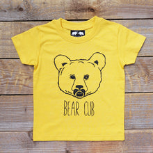 yellow baby bear tee
