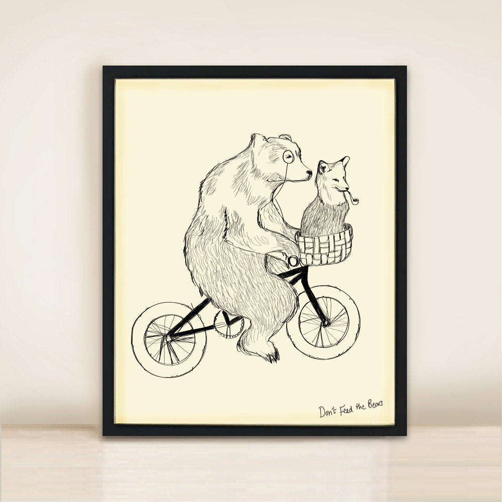 'Bear Phone Home' Poster Print A3