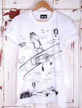 take off bear t shirt white tee